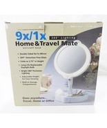 Home travel 9X/1X folding lighted cosmetic mirror - $59.39