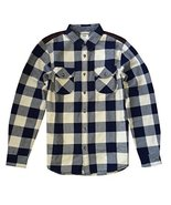 Vans Mens Hixon Jacket Button Down Plaid White ... - $98.50