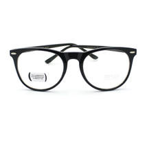 Geeky Round Thin Horn Rim Fashion Nerd Eye Glasses (3 Color Option) - $9.95