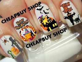 Haunted House》Witch》Ghost》Bats》Scarecrow》Halloween Nail Art Decals《Non Toxic - $16.99