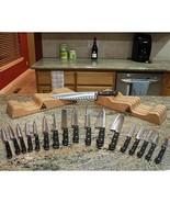 Saber Knives F-20 Connoisseur Professional Knife Set - New - 2 Blocks,18... - $379.99