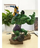 Avengers Hulk VS Wolverine PVC Action Figure Statue Collection Adult Kid... - $270.41