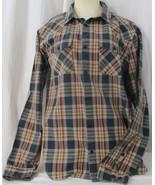 Men PATAGONIA ORGANIC COTTON  Dark Blue Orange Tan Gray LS Button Front ... - $27.71