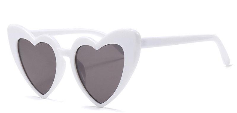 Cat Eye Sunglasses Women Love Heart Shaped Fashion Brand Designer Vintage Shades