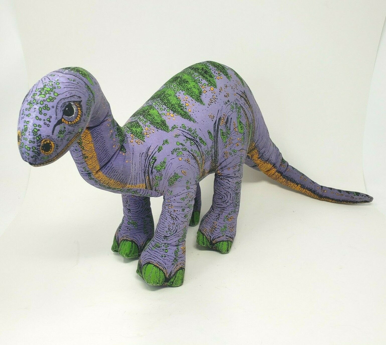 """18 """"vintage 1992 applause purple dinosaur platesaurus dino stuffed animal - $54.82"""