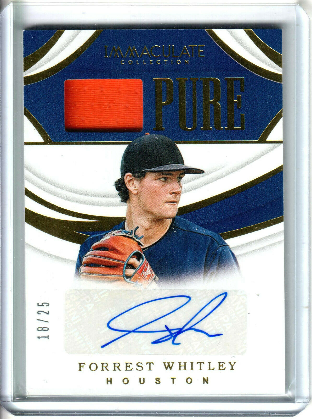 Primary image for 2019 Panini Immaculate Forrest Whitley Pure Patch Auto /25