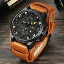 CURREN Watch Men Military Quartz Watch Mens Watches Top Brand Luxury Leather - $40.38