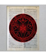 Choose A Satanic Symbol Satanism Thelema Azazel Dictionary Art Print - $11.00