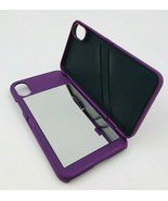Apple iPhone X Flip Mirror Case With Wallet Card Holder Stand Cover Pupl... - $7.91