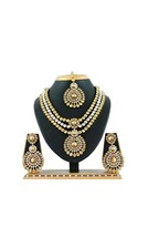Indian Bollywood Fashion Style Wedding Gold Plated Diamond Jewelry Necklace set - $45.32