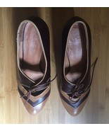 Aldo Tan/ Brown Leather Mid Heel Shoes Sz9/40 - $12.99