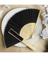 Wholesale Silk Folding Wedding Party Favor Fans Black YSefa - $131.68