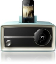 Philips Mini Charging Alarm Speaker Dock, Blue (Discontinued by Manfacturer) - $89.09