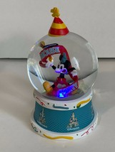 Disney Parks Mickey Mouse World's Biggest Mouse Party Light Up Snow Globe New - $54.14