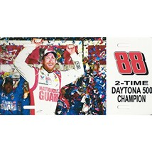 NASCAR Dale Earnhardt Jr. #88 Two Time Daytona 500 Champ Metal License P... - $12.95