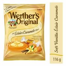 3 Werther's Original Vanilla Soft Éclair Caramel Candy 116g/4oz Canada FRESH - $43.81