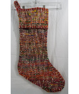 """Heavyweight Woven Christmas Stocking  20"""" Long 9"""" Opening Multi Color  NEW - $16.82"""