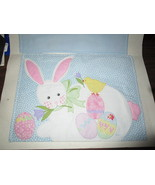 Adorable Easter Bunny Appliqued Place Mats, set of 4, Pottery Barn? - $14.99