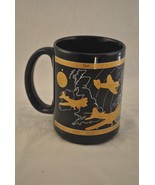 8th Air Force Blue with Gold Accent Mug Vintage Planes Over Germany - $16.82