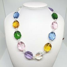 Swarovsky Crystal Bead Statement Necklace Candy Color Chic Glass Choker - $24.97
