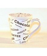 Espresso Chocolate Cappuccino Mocca Latte Coffee Cup Mug with Lid - $11.88