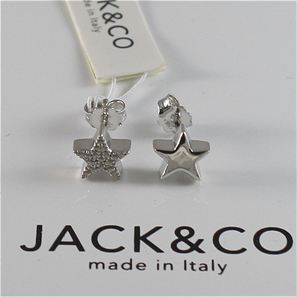 EARRINGS SILVER 925 JACK&CO WITH STELLA STARS WITH ZIRCON CUBIC JCE0452
