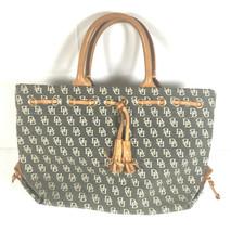 Authentic Dooney & Bourke Purse Handbag Tulip Tassel Small Tote DB Desig... - $34.64
