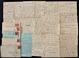 1913 lot antique 5 WATSON FAMILY LETTERS clarks green scranton edmeston pa - $48.95