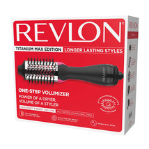 "Revlon One-Step Hair Dryer & Volumizer Titanium Max Edition 2.4"" Inch Barrel Siz - $79.99"