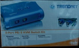 TrendNet 2-Port USB KVM Switchkit - BRAND NEW IN BOX - ALL CABLING INCLUDED - $39.59