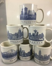 Starbucks Architect Blueprints Mug 18 oz Indianapolis Seattle Vancouver ... - $30.74+