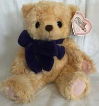 "Cherished Teddies Enesco Plush Tan Priscilla Hillman Bear NWT 7"" Purple ... - $15.99"