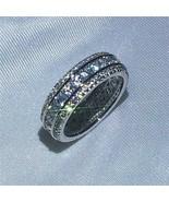 2.20Ct Round Cut VVS1/D Diamond Full Eternity Wedding Band 14K White Gol... - $118.99
