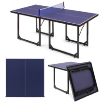 Folding Ping Pong Table Portable Tennis Tables Multi-use Indoor Games Mi... - $188.24