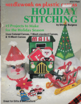 Plastic Canvas Pattern Booklet-Holiday Stitching-Uses Colored Canvas-7 &... - $4.95