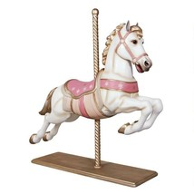 Merry Go Round Carousel Pastel Jumper Horse Large Full Size with Wood St... - $1,440.00