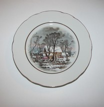 "Avon Collector Plate 1977 Currier & Yves Winter In The Country Old Grist Mill 8"" - $7.97"