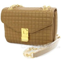 CELINE Medium C Chain Shoulder Bag Calf Light Camel 187253BFC Authentic 5443246