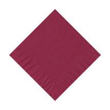 50 Plain Solid Colors Beverage Cocktail Napkins Paper - Burgundy - $2.76