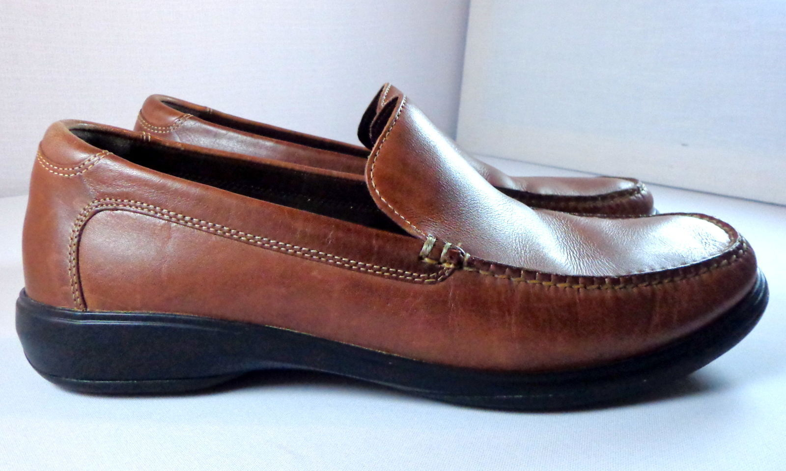 Cole Haan Nike Air Loafers Mens 11 M Brown Leather Slip On