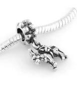 STERLING SILVER DANGLING DONKEY - PACK MULE EUROPEAN BEAD - $15.88