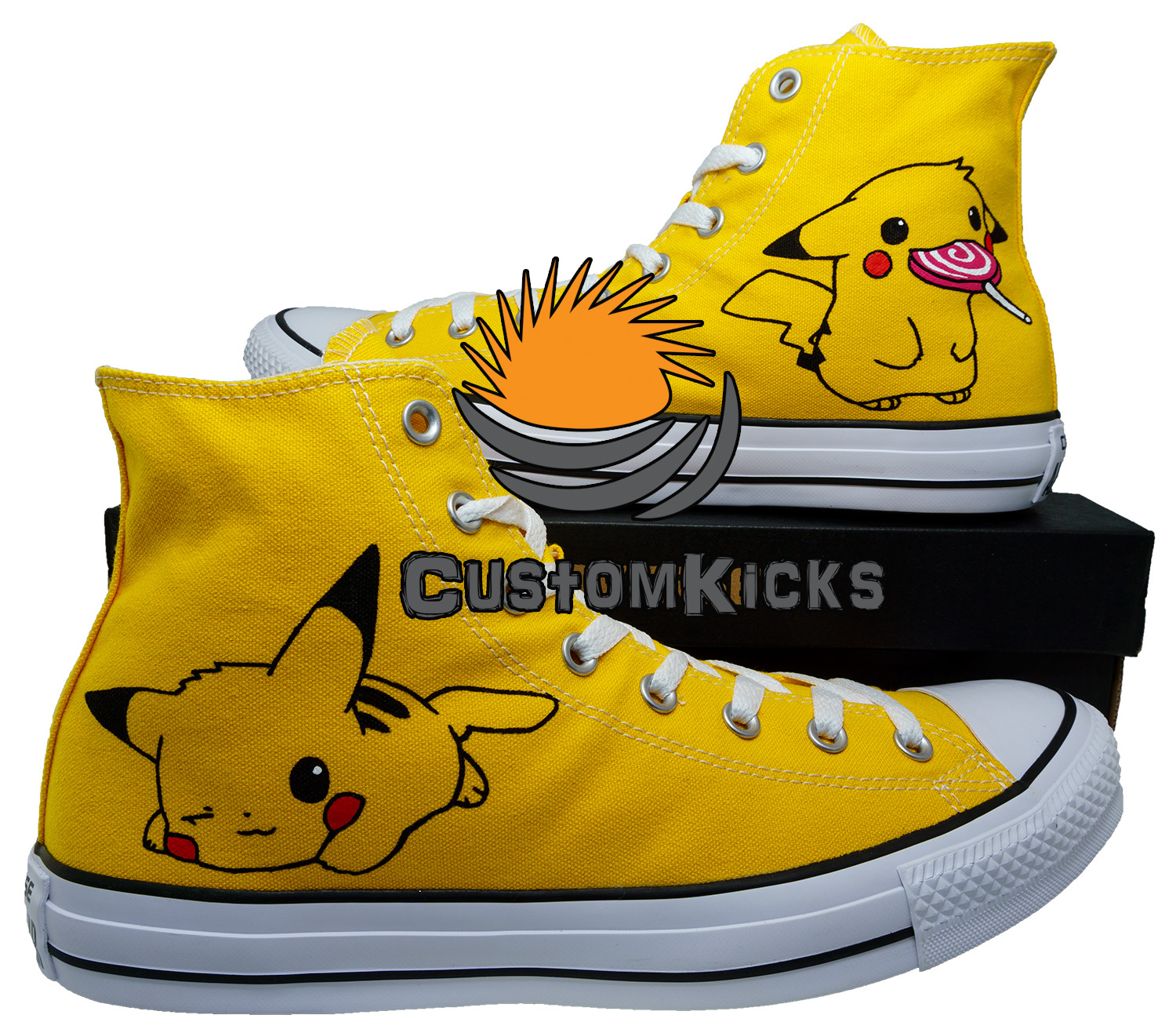 Painted converse shoes, Pokemon, Pikachu, Handpainted shoes, Birthday Gift
