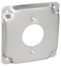 """RACO 812C 4"""" Metallic Square Exposed Work Cover 1/2"""" Raised 1.620"""" Outle... - $2.62"""
