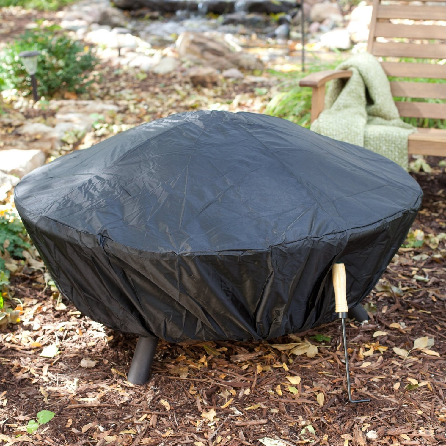 Outdoor Fire Pit Extra Large Bronze Fire Pit with Cover ...