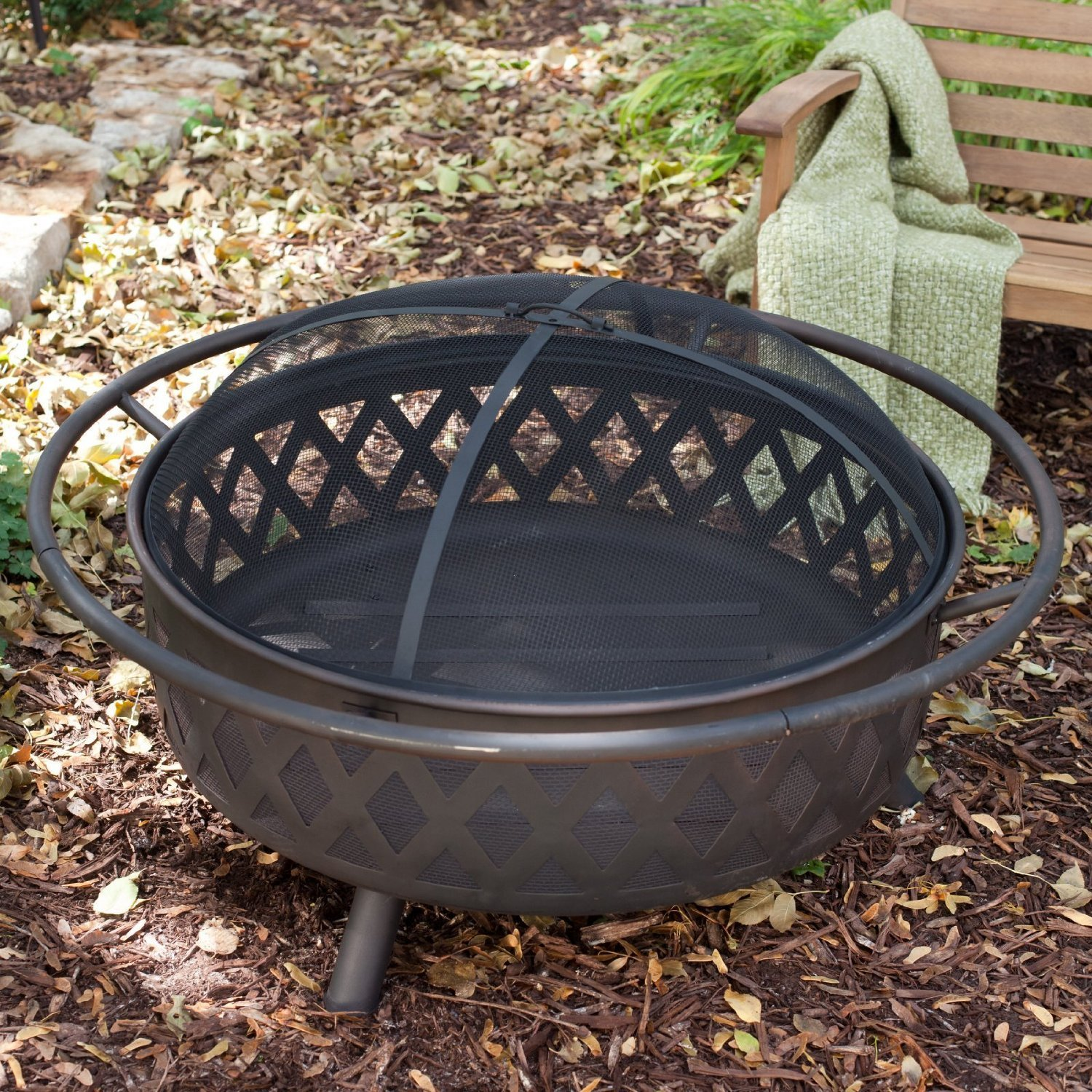 Outdoor Fire Pit Extra Large Bronze Fire Pit With Cover