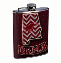 Alabama Bama 8oz Flask FanMade Stainless Steel Drinking Whiskey - $12.82