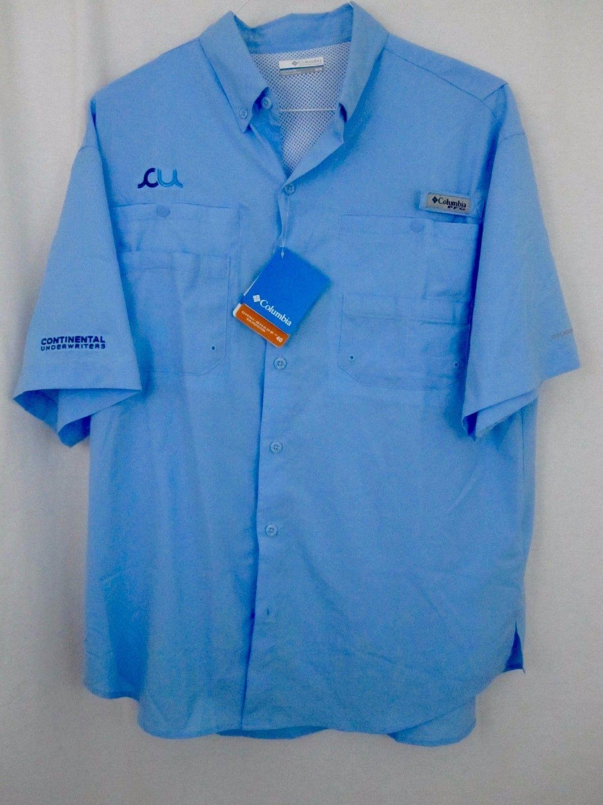 541bc47145052 Columbia Shirt Medium Blue PFG Continental and 50 similar items. 57