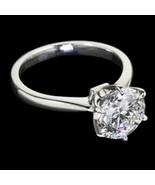 Platinum F VS1 Round 1.25 carat diamond solitai... - $9,283.77