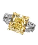 Radiant yellow canary center diamond 3 carats f... - $20,709.19