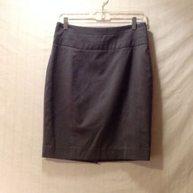 H&M Women's Size 10 Pencil Skirt Tailored Above Knee Gray Grey Fully Lined